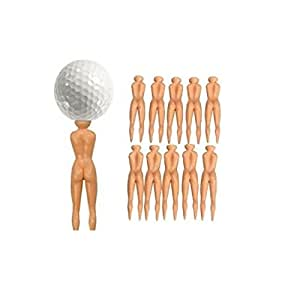 Nude Mesdames nuddie Naked Lot de 20Tees de golf Balles de golf Coffret cadeau