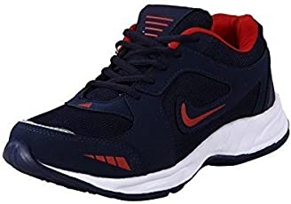 Rockfield Men's Running Shoes - Black & Red
