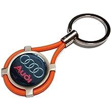 Llavero con dije Audi para coche y moto para los modelos A1 A3 A4 A5 A6 A7 A8 Q2 Q3 Q5 Q7 TT con estuche. Novedad Regalo.