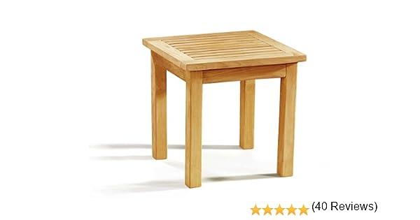 Teak Wood Occasional Square Garden Side Table - Jati Brand