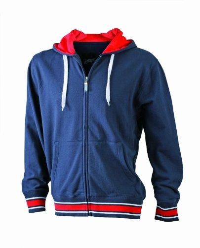 James nicholson sweat-shirt de base-ball &à capuche pour femme Bleu (navy/red/white)