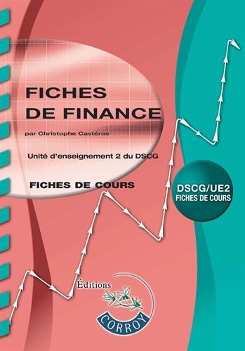 Fiches de finance: UE 2 du DSCG