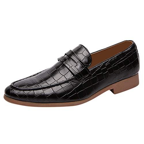 Uomo Elegante Piatto Mocassini Scarpe Casuale Scivolare Loafers Scarpe da Barca Moda Scarpe da Uomo in Pelle Moda Casual a Punta Stilista Scarpe da Lavoro