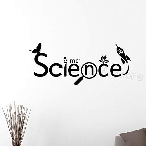 Wandaufkleber, Kunst Aufkleber Dekor Poster Wissenschaft Chemische Vinyl Kinder Wissenschaftler Chemie Schule Aufkleber Abnehmbare Wandtattoos Home Schlafzimmer 98x42 cm -