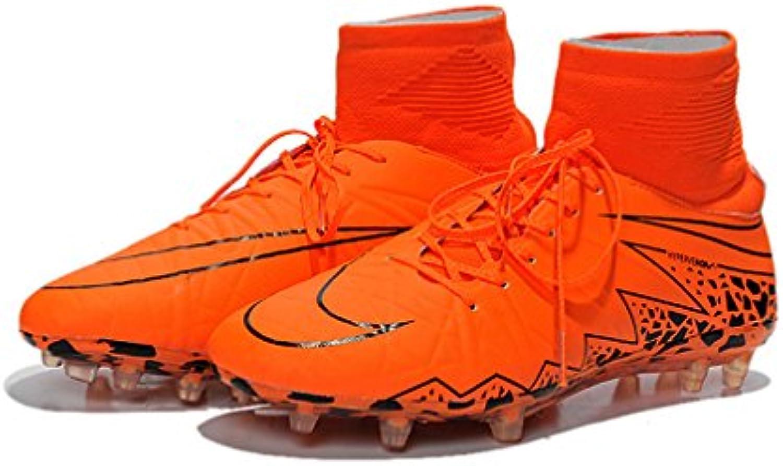 Generic Herren HYPERVENOM II Phantom Premium FG Flyknit orange Hi Top Fußball Schuhe Fußball Stiefel -