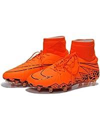 promo code 1099f 3d85f Nekcadft Shoes Generic Hypervenom Phantom II pour Homme Premium FG Flyknit  Orange Hi Top Chaussures de Football pour Homme Bottes…