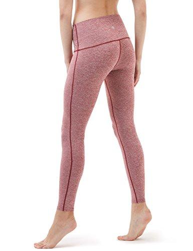 Tesla yoga pantaloni donna high-waist controllo pancia W tasca nascosta FYP42 TM-FYP42-SDR