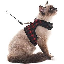 Scirokko Arnés para gato, a prueba de escapes, regulable, chaleco con correa