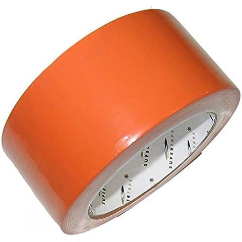 Sudembal SU001 -Nastro adesivo in PVC per edilizia, 50 m x 33 mm, colore arancione