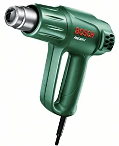 Bosch DIY Heißluftgebläse PHG 500-2, Karton (1.600 W, Temparatur 300/500 °C, Luftstrom 240/450 l/min)