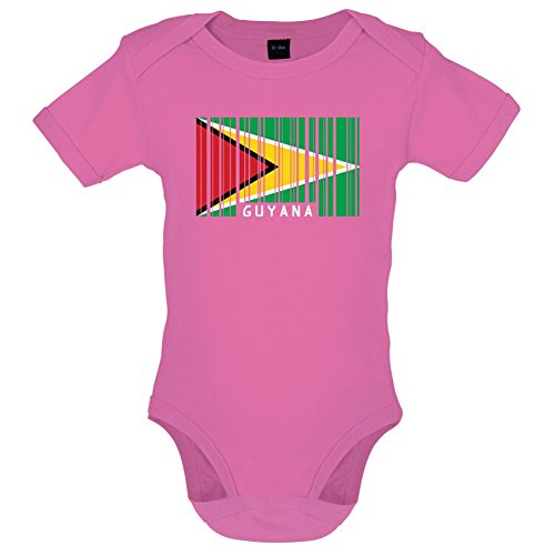code Flagge - Lustiger Baby-Body - Bubble-Gum-Pink - 6 bis 12 Monate ()