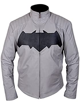 Leatherly Chaqueta de hombre Batman Dawn Of Justice Bruce Wayne Arkham Knight Cuero Chaqueta