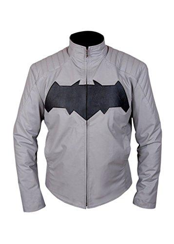 ce Bruce Wayne Arkham Knight Leder Jacke- perfekte Halloween-Kostüm- XXL ()