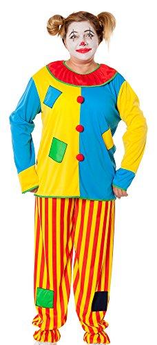 spass42 Damen Kostüm Clown Anzug Harlekin Narr Zirkus Narren Frauen Verkleidung Horror Halloween Groesse: - Harlekin Narr Clown Kostüm
