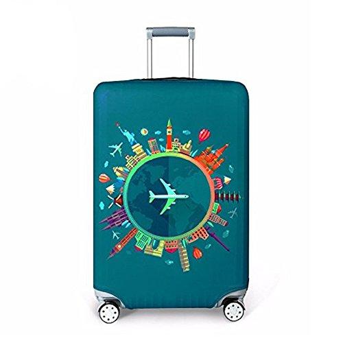 Cover Proteggi Copertura per valigie 18-32 pollici Coperchio per bagagli in fibra di bambù, fibra di carbonio (colore 2, XL)