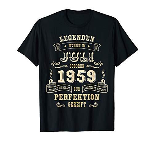 Geschenk zum 60. Geburtstag Frau Mann Jahrgang 1959 Juli T-Shirt (60 Farbe Geburtstag)