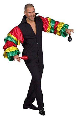 Rio Riohemd Samba Brasilien Flamenco Spanier 4 Größen (XL) (Brasilianischen Karneval Kostüm Namen)