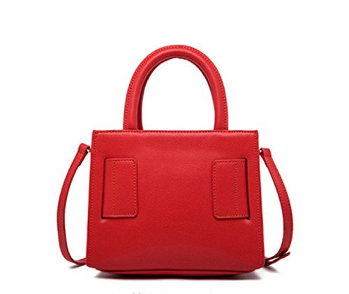 Donne Cuoio Genuino Di Grande Capacità Di Spalla Crossbody Bag Borsa. Red1