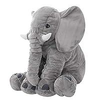 Baby Elephant Pillow Children Stuffed Plush Soft Sleeping Cushion Kids Comfort Toy Grey 60cm