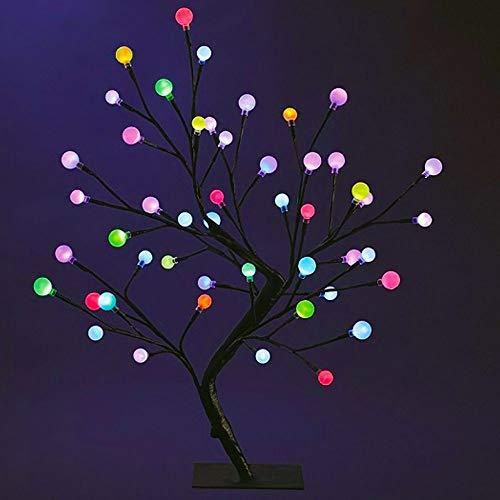 DECO NOËL - Arbre boules lumineux 48 LED Ampoules à variations de couelur - Hauteur 50 cm