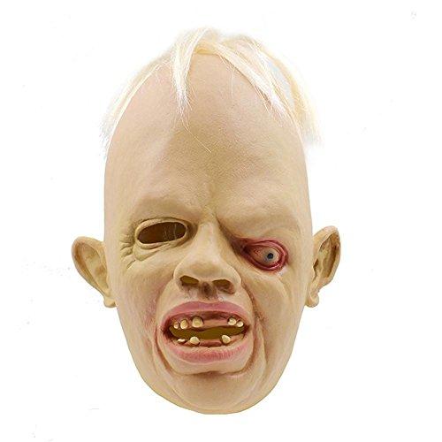 SQCOOL Oblique seltsame Maske Halloween Zombie Cosplay Party Make-up Tanz Requisiten Thriller Tamper Spielzeug (Beste Thriller Kostüme)