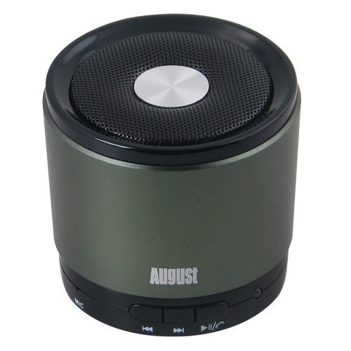 August MS425 - Mobiler Bluetooth v4.0 Lautsprecher mit Mikrofon - Schnurloser Speaker und Freisprecheinrichtung für Smartphones und Handys (grün)