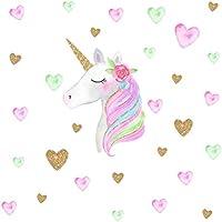 Toyvian Etiquetas engomadas de la Pared de los Unicornios, Etiquetas de la Pared del Unicornio para la Etiqueta de la Sala de Estar de la habitación de los niños
