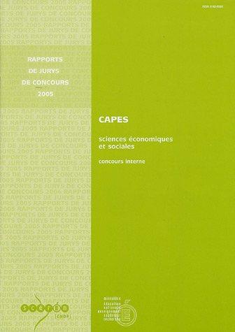 CAPES sciences économiques et sociales : Concours interne et CAERPC correspondant