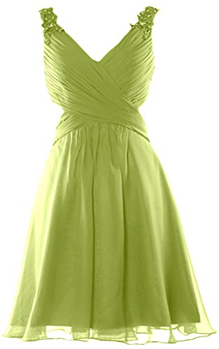 MACloth - Robe - Cocktail - Sans Manche - Femme Vert - Oliver Green