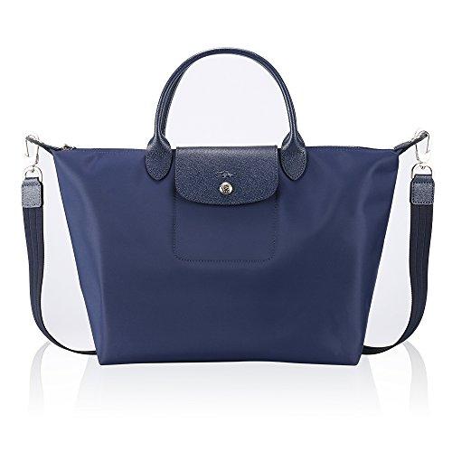LCHOMP Damen Handtaschen Schulter Tasche Bote Umhängetasche Nylon Tragetasche Einkaufen Falten Strandtasche Reisetasche Pendler Tasche (L, Marine) - Chanel Gepäck