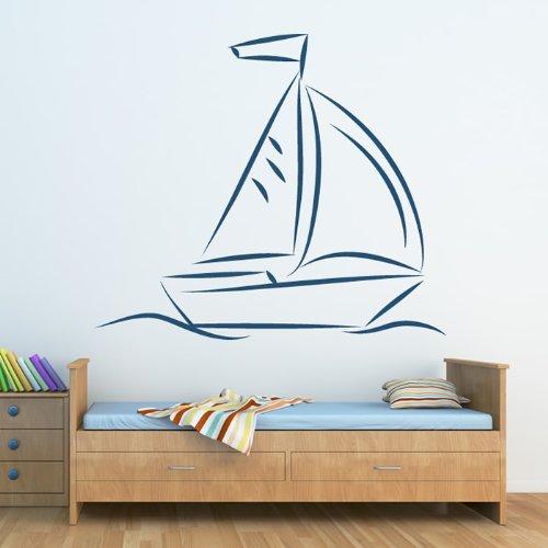 Barca a vela Wall Sticker barche Adesivo