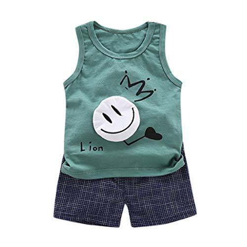 JERFER Anzug FüR Kinder Kleinkind-Karikatur-T-Shirt übersteigt Kurze Hosen 2pcs Kleidungs-Satz