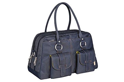 Lässig Vintage Metro Bag Wickeltasche/Babytasche inkl. Wickelunterlage denim blue Blau