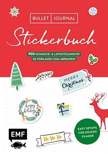 Bullet Journal - Stickerbuch Merry Christmas: 700 weihnachtliche Schmuckelemente: Easy Setups für deinen Planer mit 100 Vorlagen zum Abpausen