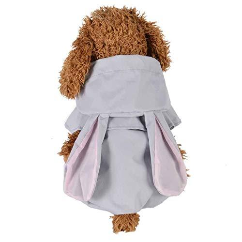 JKRTR Persönlichkeit Haustier Frühling Sommer 2019,Hooded Raincoat Pet wasserdichte Hündchenjacke Outdoor Coat(Grau,XL) Edge Pullover Hoodie