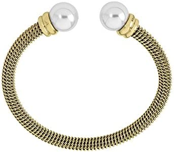Majorica - Brazalete, 12 mm ronda perlas blancas