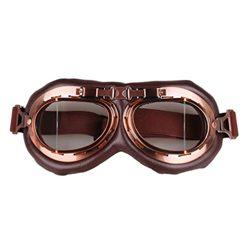 GreatWall Motorrad-Reitbrille Retro Classic Glasses Outdoor Sports Windschutzscheibe Transparent