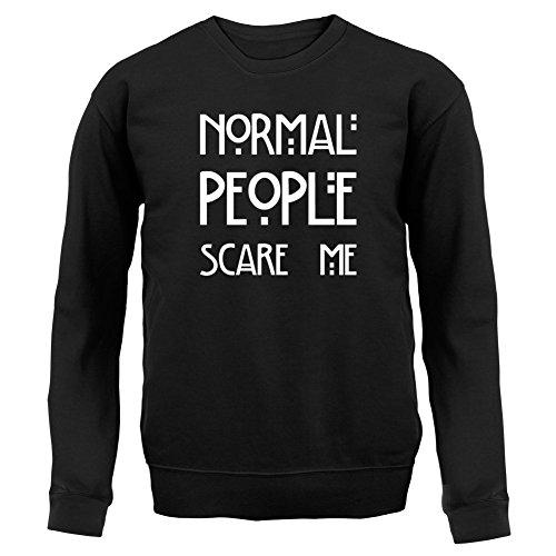 Normal People Scare Me - Enfant Sweat/Pull - Noir - L (7-8 ans)