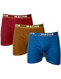 Macho Men's Cotton Trunk/Underwear - Set of 3