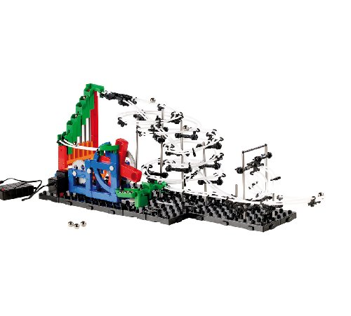 Playtastic Bausätze: Kugel-Achterbahn Schwierigkeitsstufe II, 245 Teile (Space-Rail-Achterbahn-Bausätze)