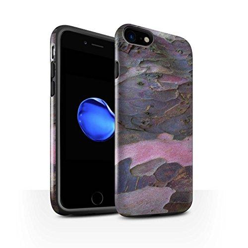STUFF4 Glanz Harten Stoßfest Hülle / Case für Apple iPhone 7 / Algen/Grün Muster / Baumrinde Kollektion Gekrümmte/Lila