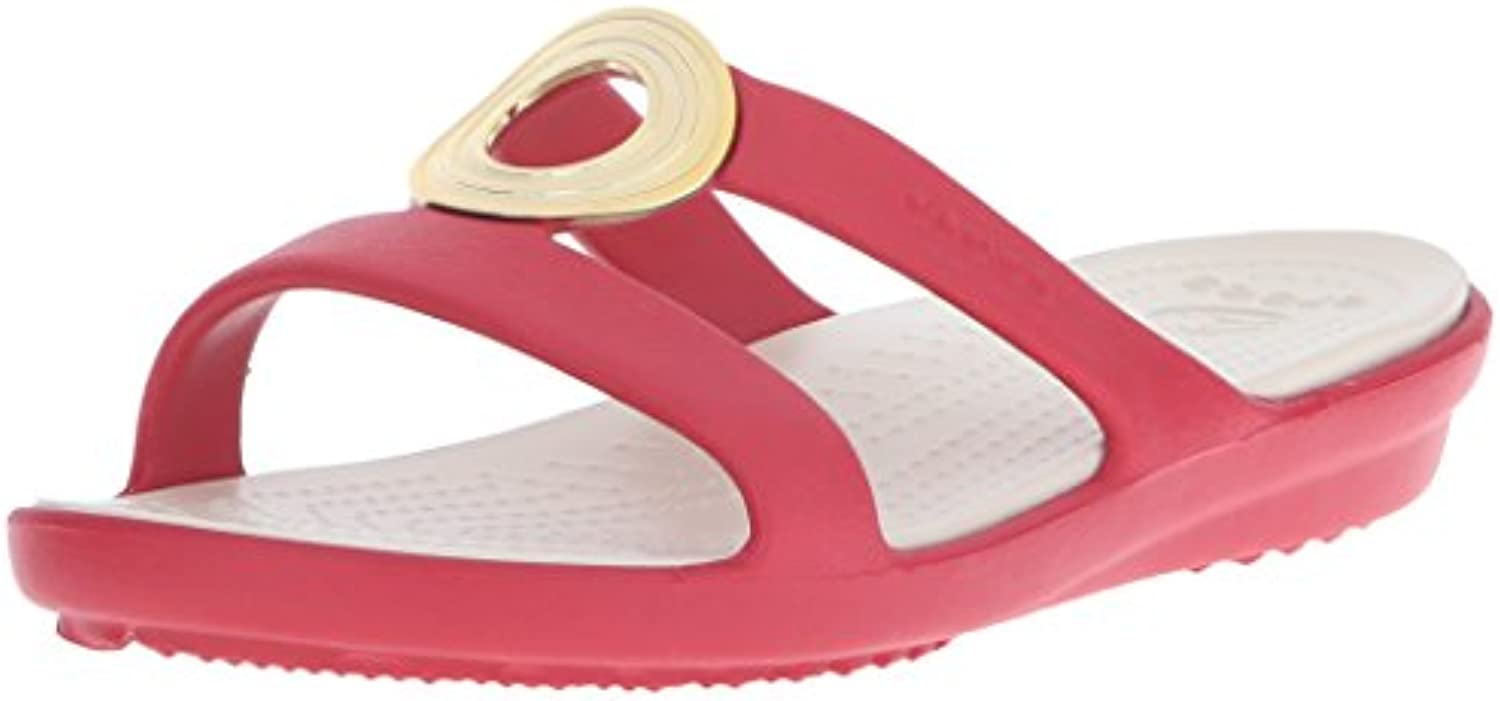 crocs Women's Leigh II 2 Strap Graphic Wedge Sandal