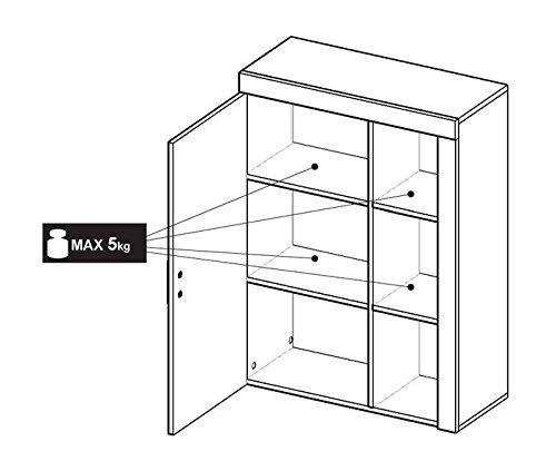 BLACK FRIDAY Begrenztes Angebot – MEG Moderne Wohnwand, Exklusive Mediamöbel, TV-Schrank, Neue Garnitur (Sonoma MAT base / Weiß MAT front) - 5