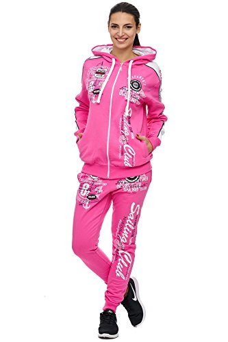 Damen Jogging-Anzug | Sailing Club 701 (M-fällt groß aus, Pink)