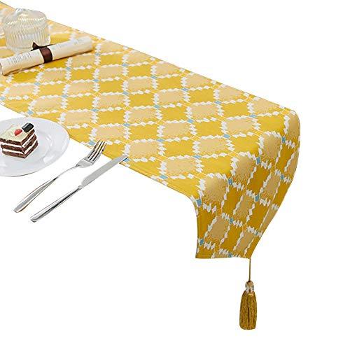 Chemins de table Chemins de table Rectangle Motifs Géométriques Chemins de Table 11.8x 102 Pouces pour Home Salon Table À Manger Décoratif (Couleur : Style-2, taille : 30X260cm)