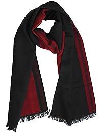 FERETI® Sciarpa Uomo Righe Rosso Nero Motivo Greca Bicolore Molto Morbido  Caldo Autunno Line 6f3d30a3f7bc