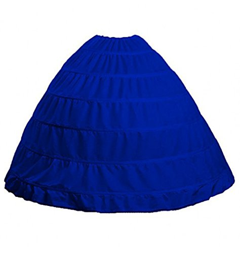 TEERFU Damen Unterrock Blau