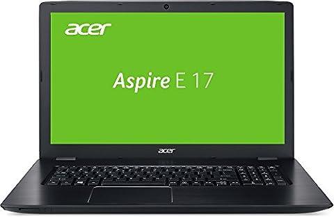 Acer Aspire E 17 (E5-774-320D) 43,94 cm (17,3 Zoll) Notebook (Intel Core i3-6006U, 8 GB RAM, 256 GB SSD + 1000 GB HDD, Intel HD Graphics 520, Win 10 Home) schwarz