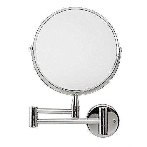 Lumaland Kosmetikspiegel Wandspiegel mit Gelenkarm 5fach Vergrößerung