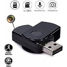 Codomoxo®: llavero con memoria USB y minicámara espía HD.